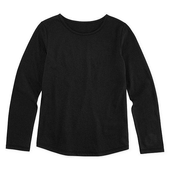 Arizona Girls Crew Neck Long Sleeve Graphic T-Shirt