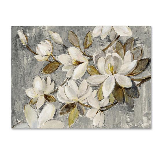 Trademark Fine Art Silvia Vassileva Magnolia Simplicity Neutral Gray Giclee Canvas Art