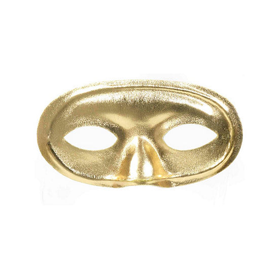 Domino Mask Gold Dress Up Accessory