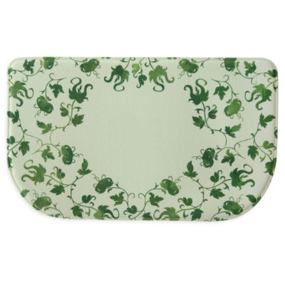 Bacova Guild Vine Monogram Personalized Rectangular Kitchen Mat