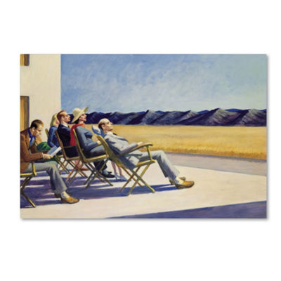 Trademark Fine Art Edward Hopper People in Sun Giclee Canvas Art