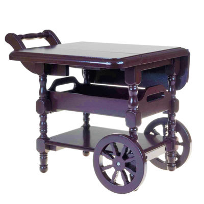 The Queen's Treasures 18 Inch Doll Furniture Drop Leaf Tea Cart