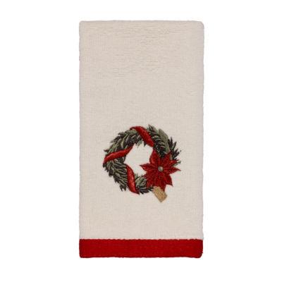 Avanti Farmhouse Holiday Embroidered Bath Towel