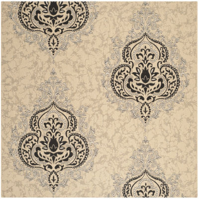 Safavieh Courtyard Collection Dedrick Medallion Indoor/Outdoor Square Area Rug