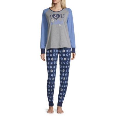 Holiday #Famjams Holiday #Fam Jams Womens Pant Pajama Set 2-pc. Long Sleeve Family