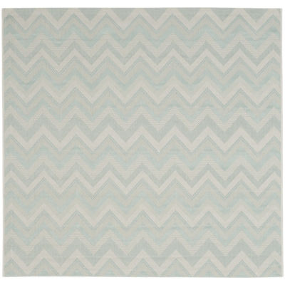 Safavieh Courtyard Collection Duncan Geometric Indoor/Outdoor Square Area Rug