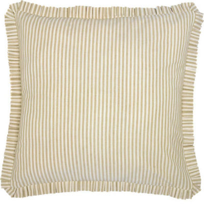 VHC Boho & Eclectic Farmhouse Bedding - Joanna Ticking Stripe Euro Sham