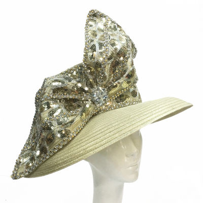Whittall & Shon LG Brim Sequin Trim Derby Hat