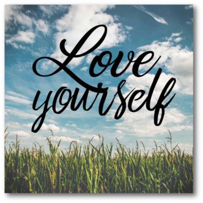 Love Yourself Canvas Art