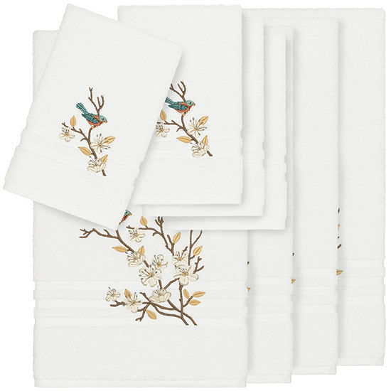 Linum Home Textiles 100% Turkish Cotton Spring Time 8PC Embellished Towel Set