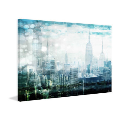 Mid Town Painting Print on Wrapped Canvas