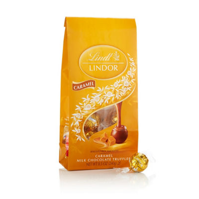 Lindor Milk Chocolate Caramel Truffles - 8.5 oz -2 Pack