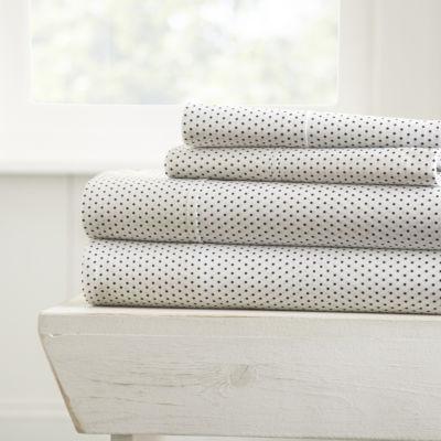 Casual Comfort Premium Ultra Soft 4 Piece Stippled Pattern Bed Sheet Set