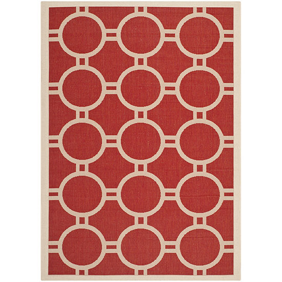 Safavieh Courtyard Collection Shag Geometric Indoor/Outdoor Area Rug
