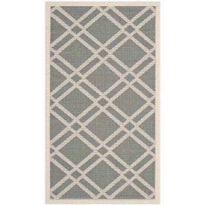 Safavieh Courtyard Collection Hannah Geometric Indoor/Outdoor Area Rug