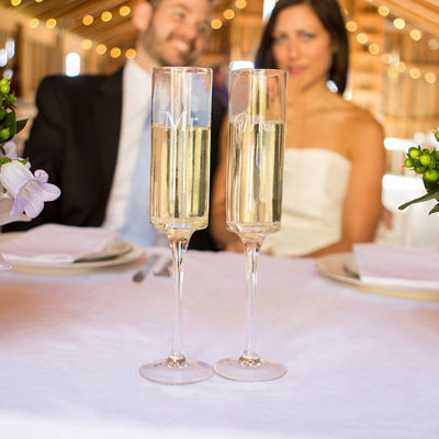 Cathy's Concepts Mr. & Mrs. Champagne Flutes