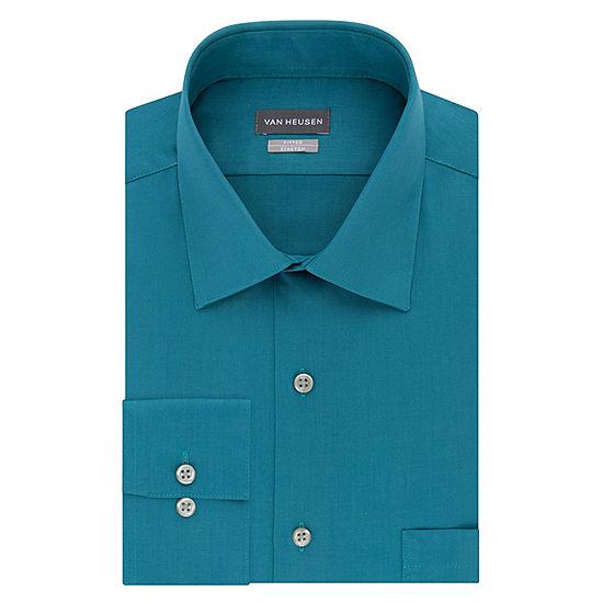 efa6b5197161b Van Heusen No Iron Lux Sateen Mens Long Sleeve Sateen Dress Shirt - Fitted  - JCPenney
