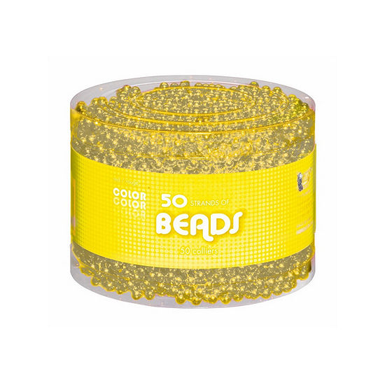 Yellow Bead Necklaces-Multipack Dress Up Accessory