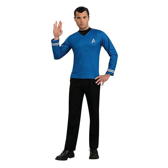 Star Trek Mens Movie Blue Shirt Adult Dress Up Costume