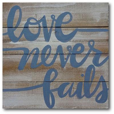 Love Never Fails Canvas Art