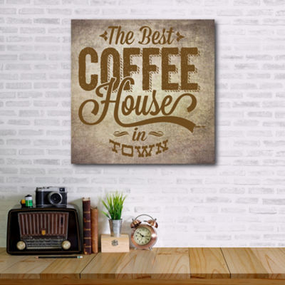 Best Coffee In Town Canvas Art