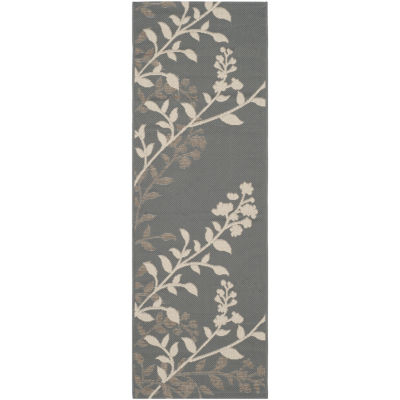 Safavieh Courtyard Collection Adeline Oriental Indoor/Outdoor Runner Rug
