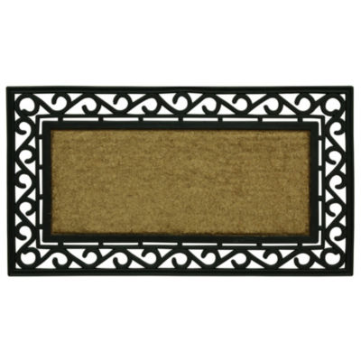 Bacova Guild Scroll Framed Rectangular Doormat