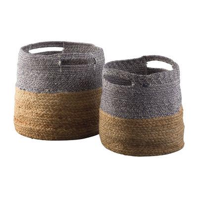 Signature Design By Ashley® Set of 2 Parrish Color Blocked Baskets