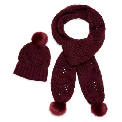 Mixit Hat And Scarf 2-pc. Knit Cold Weather Set