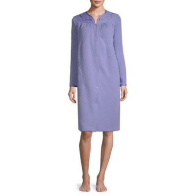 Adonna Woven Long Sleeve Y Neck Nightgown