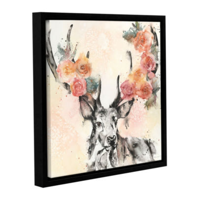 Everything Is Coming Up Roses Floater-Framed Gallery Wrapped Canvas