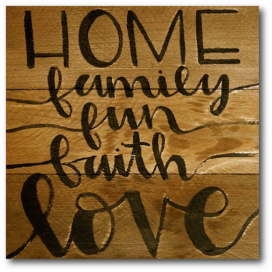 Courtside Market Home Family Fun With Love Canvas Art