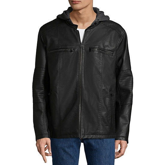 Levi's® Faux Leather Midweight Motorcycle Jacket - Big