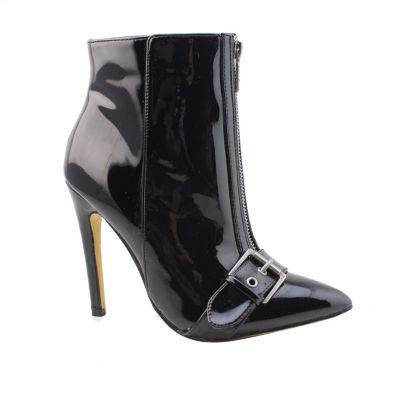 Michael Antonio Womens Emma-Pat Booties Stiletto Heel Zip