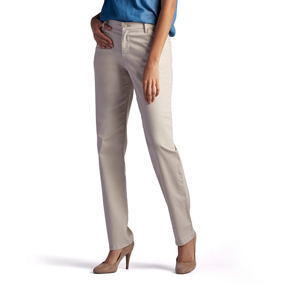 810a37a7aa16c Lee® Side-Elastic Straight-Leg Twill Pants. Lee® Plain Front Relaxed All  Day Twill Pant
