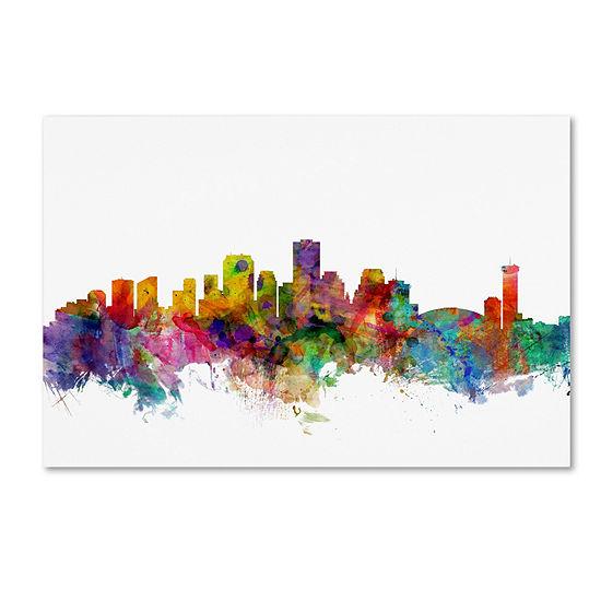 Trademark Fine Art Michael Tompsett New Orleans Louisiana Skyline Giclee Canvas Art