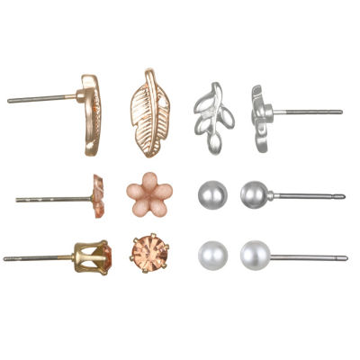 Mixit Delicates 6 Pair Earring Set