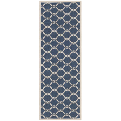 Safavieh Courtyard Collection Jobeth Geometric Indoor/Outdoor Runner Rug
