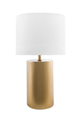 "Watch Hill 24"" Madeline Iron Cotton Shade Table Lamp"