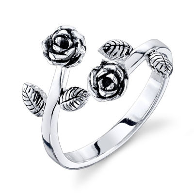 Footnotes Footnotes Footnotes Womens 11.5mm Sterling Silver Bypass Ring