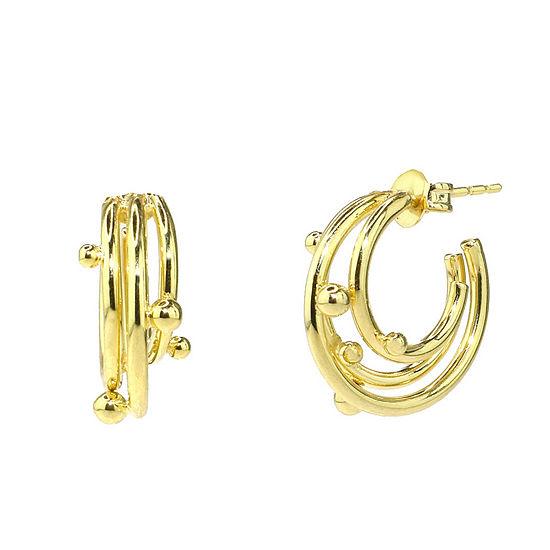 Sechic 14K Gold 16mm Hoop Earrings