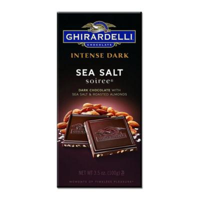 Ghirardelli Chocolate Intense Dark Sea Salt SoireeChocolate 3.5 oz - 12 Count