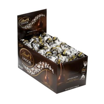 Lindor 60% Extra Dark Chocolate Premium Truffles -120 Count