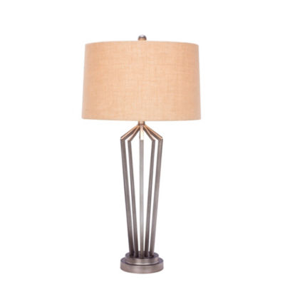 Fangio Lighting's #1531 34 inch Dark Silver Metal Table Lamp