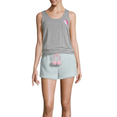 Pj Couture My Furry Friends Womens-Juniors Shorts Pajama Set 2-pc. Sleeveless