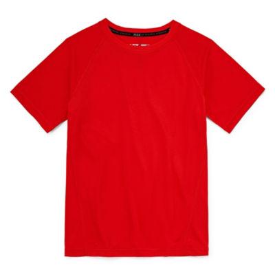 Msx By Michael Strahan Boys Crew Neck Short Sleeve Moisture Wicking T-Shirt-Big Kid