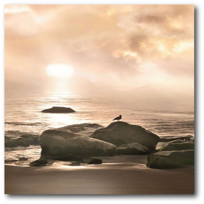 Sepia Sunset II Canvas Art