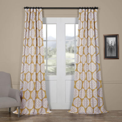 Exclusive Fabrics & Furnishing Meridian Blackout Rod-Pocket/Back-Tab Curtain Panel