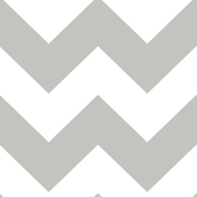 Brewster Wall Ziggy Chevron Grey Peel And Stick Wallpa Wall Decal