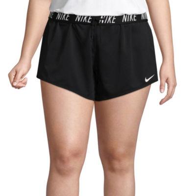 "Nike Womens Mid Rise 5"" Workout Shorts-Plus"